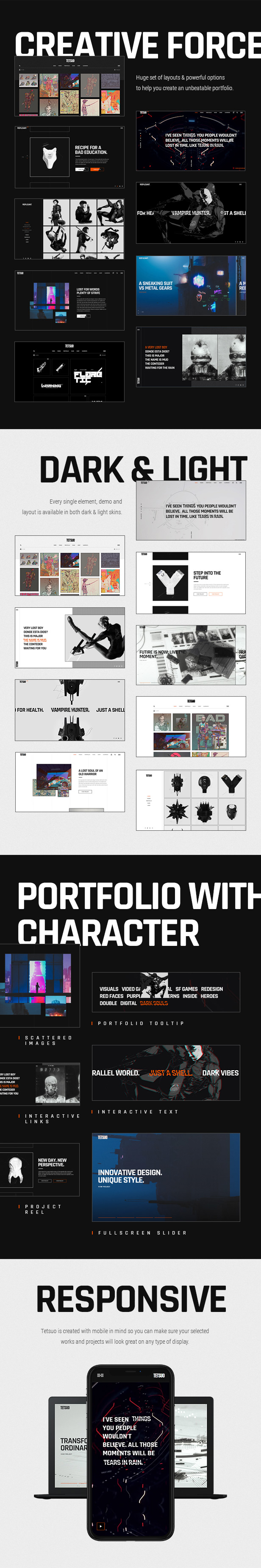 Tetsuo - Portfolio and Creative Industry Theme - 2
